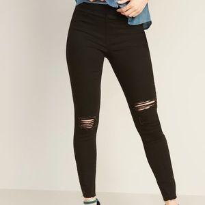 Old Navy Rockstar Jegging Distressed Jeans Size 8